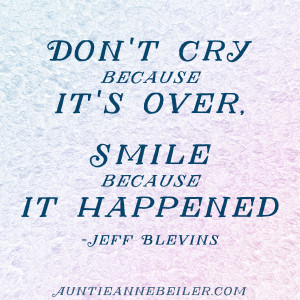 AB Quote Card - Don't Cry, Smile
